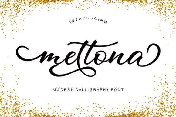 Print on Demand: Mettona Script & Handwritten Font By ayeelastudio