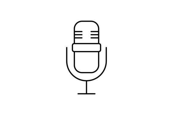 Print on Demand: Microphone Graphic Icons By khld939