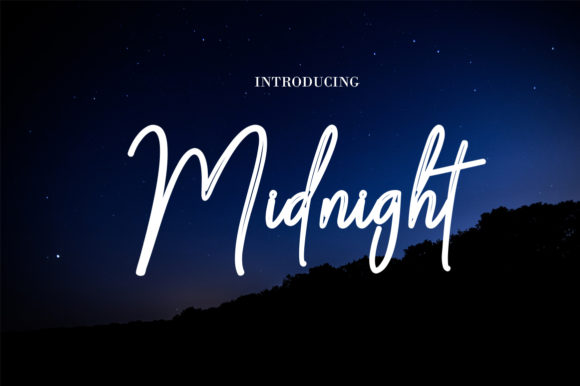 Print on Demand: Midnight Script & Handwritten Font By bbakey