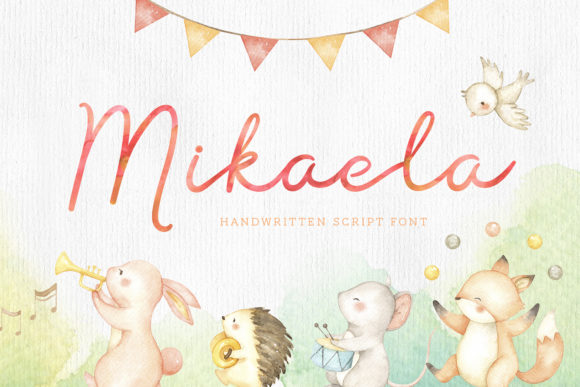 Print on Demand: Mikaela Script Script & Handwritten Font By typefairy