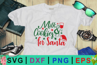 Milk & Cookies for Santa Christmas SVG Graphic By Design Palace