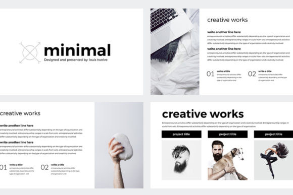 Minimal Keynote Template Graphic Graphic Templates By Creative Fabrica Freebies - Image 2