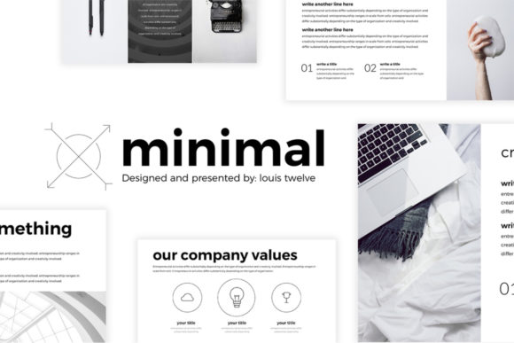 Minimal Keynote Template Graphic Graphic Templates By Creative Fabrica Freebies