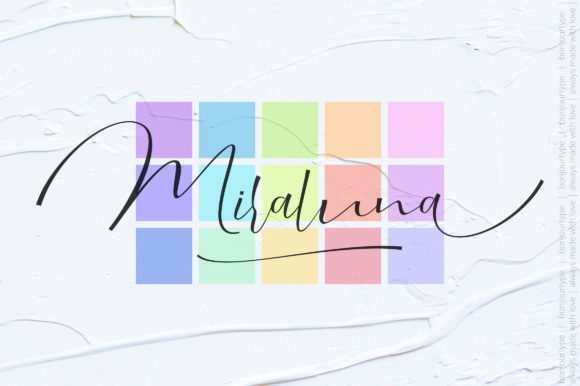 Print on Demand: Miraluna Script & Handwritten Font By BonjourType