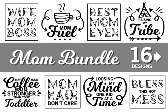 Mom Life SVG Bundle Graphic Crafts By CrystalGiftsStudio