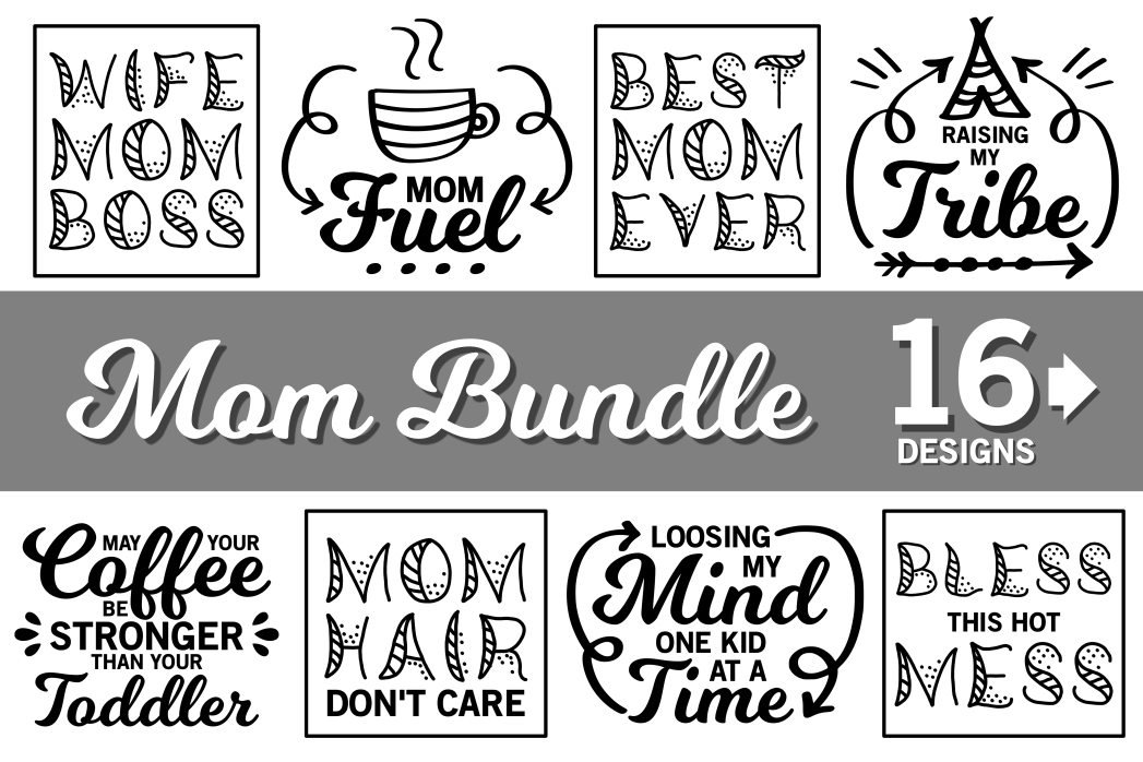 Download Free Mom Life Bundle Grafico Por Crystalgiftsstudio Creative Fabrica for Cricut Explore, Silhouette and other cutting machines.