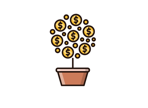 Download Free Money Tree Graphic By Back1design1 Creative Fabrica for Cricut Explore, Silhouette and other cutting machines.