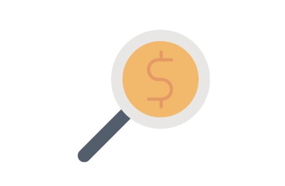 Print on Demand: Money Searching Graphic Icons By Iconika