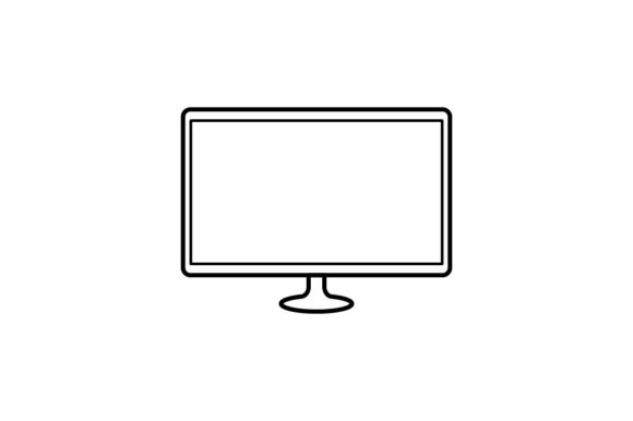Print on Demand: Monitor Graphic Icons By khld939 - Image 1