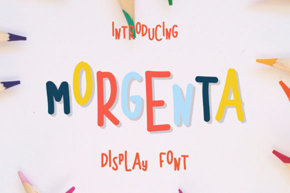 Print on Demand: Morgenta Display Font By fanastudio