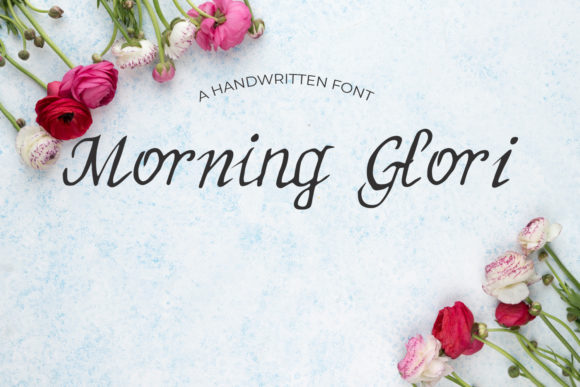 Print on Demand: Morning Glori Script & Handwritten Font By Eldamar Studio Fonts