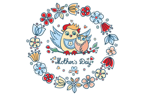 Print on Demand: Mother's Day Greeting Card Graphic Illustrations By zoyali - Image 1
