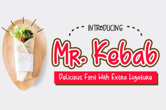 Print on Demand: Mr. Kebab Script & Handwritten Font By Omotu