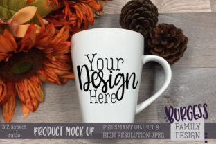 Mug Mock Up 3-2 Aspect Ratio Fall Themed Graphic By burgessfamilydesign