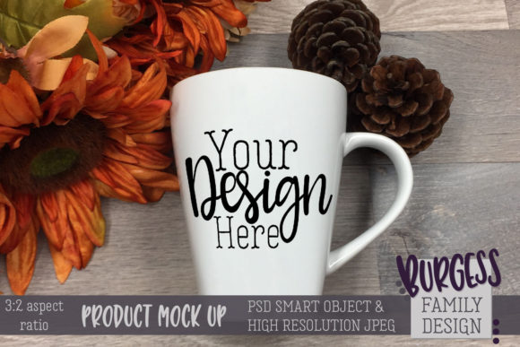 Mug Mock Up 3-2 Aspect Ratio Fall Themed Graphic Product Mockups By burgessfamilydesign