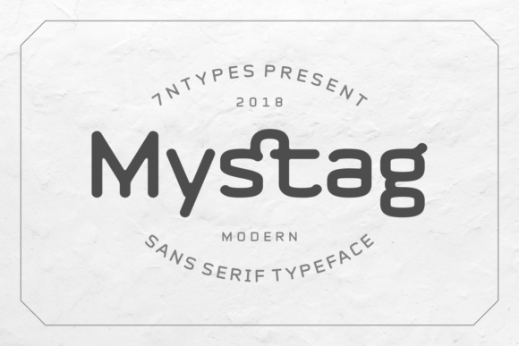 Print on Demand: Mystag Sans Serif Font By Situjuh