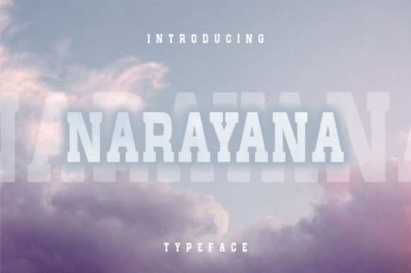 Print on Demand: Narayana Serif Font By bywahtung