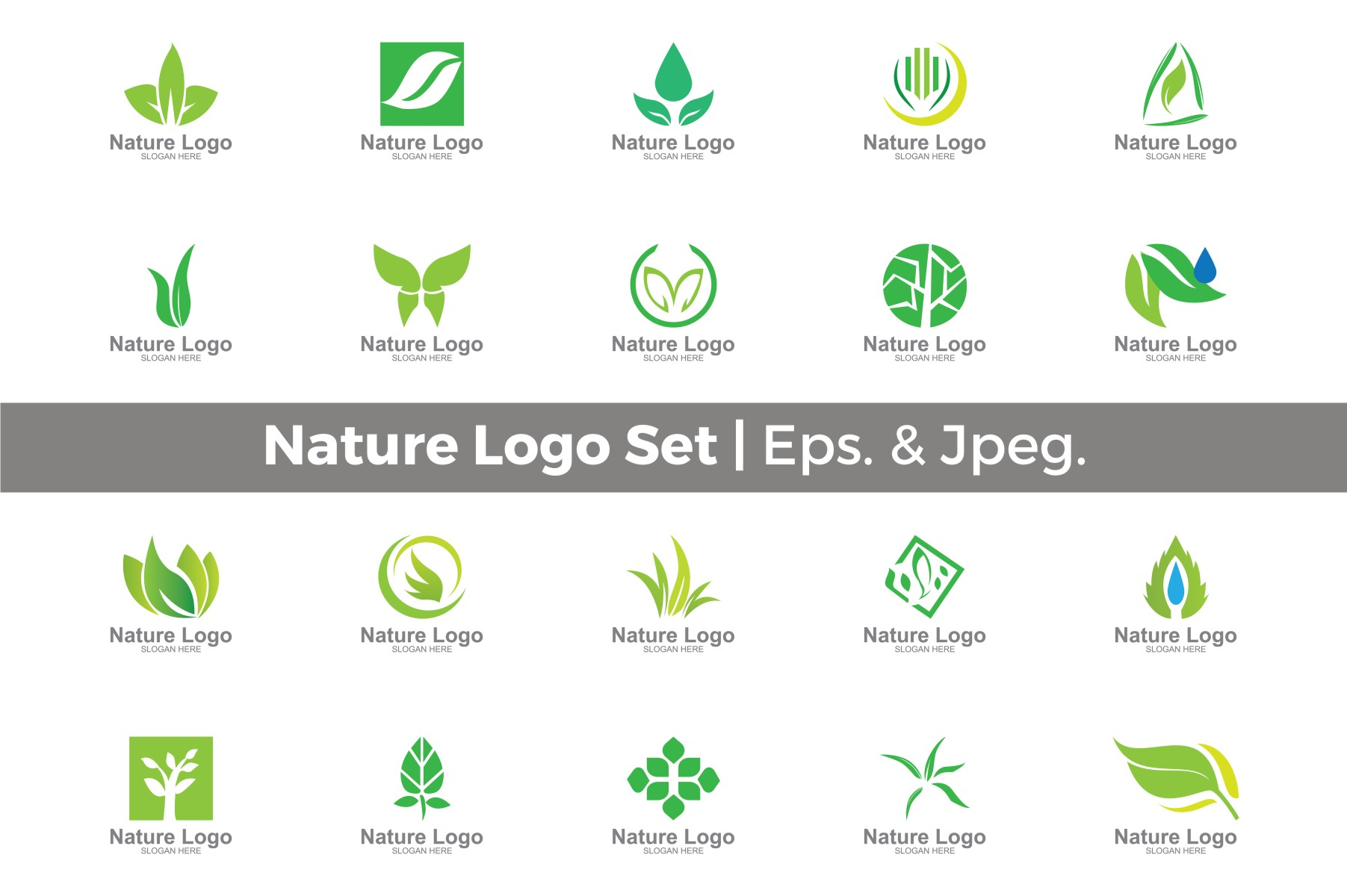 nature logo set graphic by guardesign creative fabrica creative fabrica