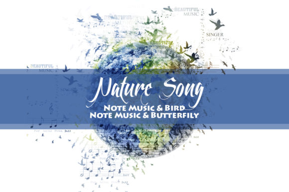 Download Free Nature Song Photoshop Action Graphic By Yantodesign Creative for Cricut Explore, Silhouette and other cutting machines.
