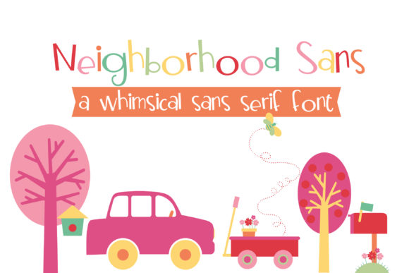 Print on Demand: Neighborhood Sans Display Font By Illustration Ink