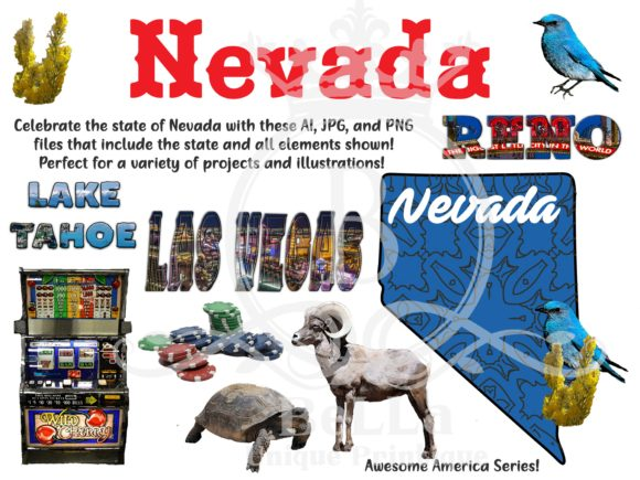 Nevada - Awesome America Series Graphic Objects By BellaUniquePrintique