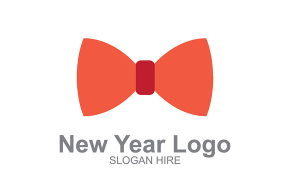 New Year Logo Bow Graphic By Guardesign Creative Fabrica