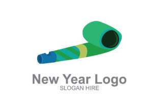 New Year Logo Whistle Graphic By Guardesign Creative Fabrica
