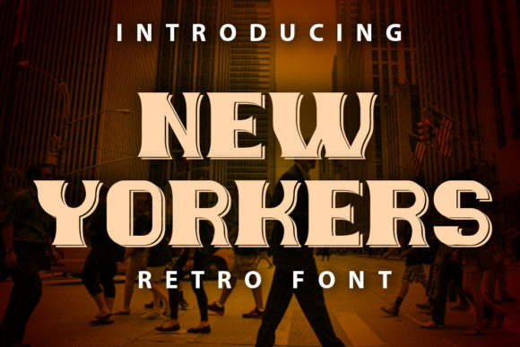 Print on Demand: New Yorkers Display Font By vladimirnikolic