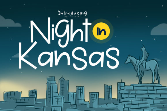 Print on Demand: Night in Kansas Display Font By suzurantype