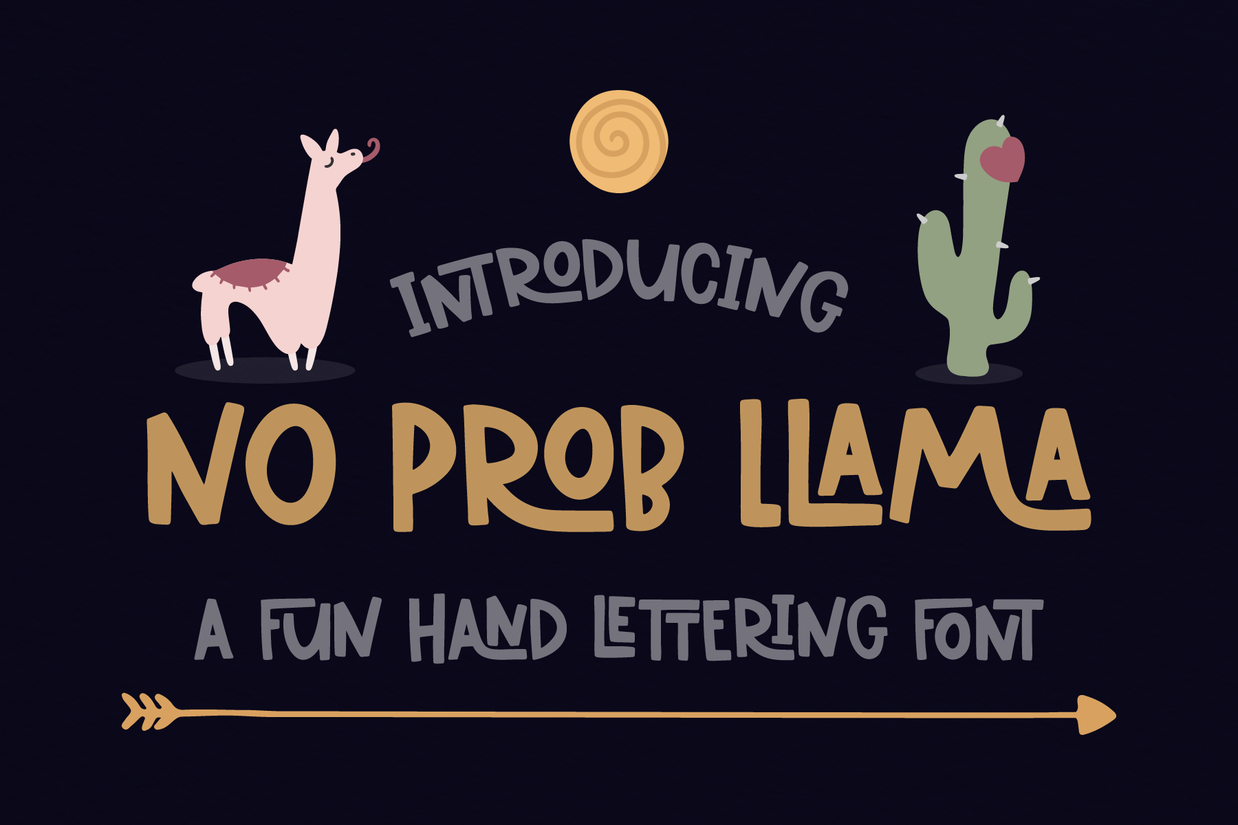 Download Free No Prob Llama Font By Emylia Design Creative Fabrica for Cricut Explore, Silhouette and other cutting machines.