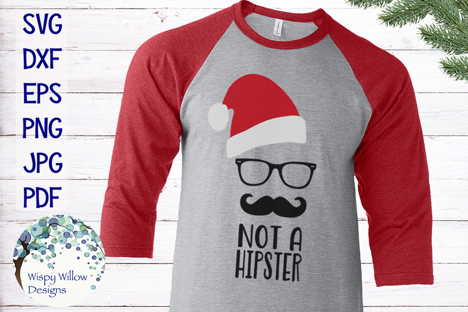 Download Free Not A Hipster Santa Clause Christmas Svg Graphic By for Cricut Explore, Silhouette and other cutting machines.