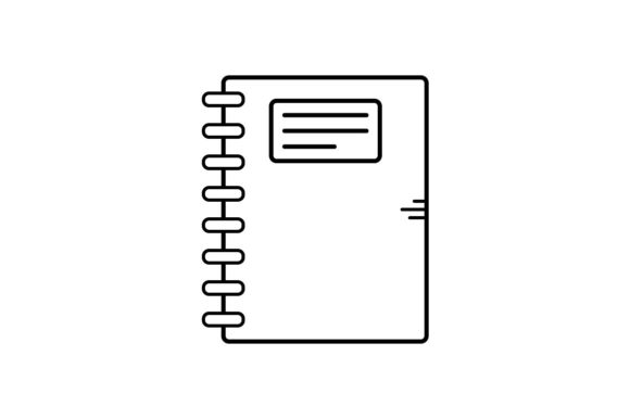 Print on Demand: Notebook Graphic Icons By khld939