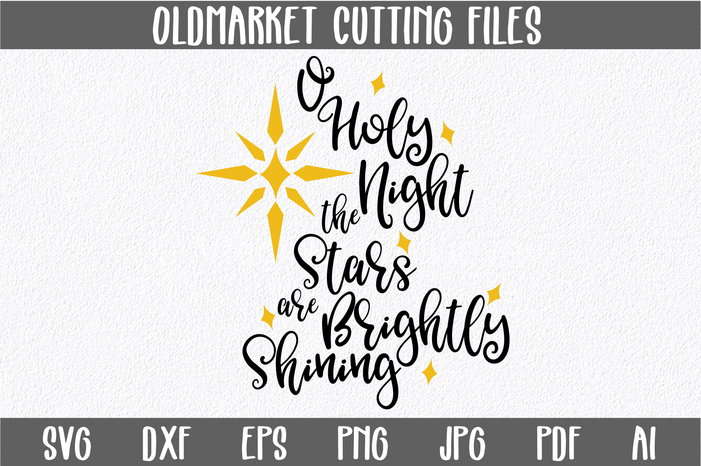 Download Free O Holy Night Svg Christmas Svg Cut File Graphic By for Cricut Explore, Silhouette and other cutting machines.