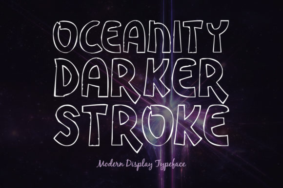 Print on Demand: Oceanity Darker Stroke Display Font By Shattered Notion