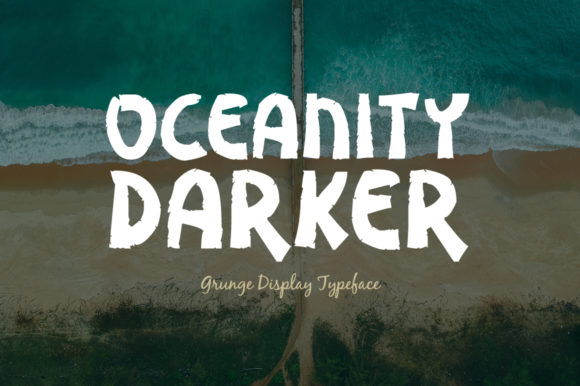 Print on Demand: Oceanity Darker Display Font By Shattered Notion - Image 1