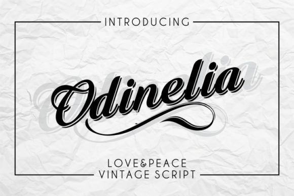 Print on Demand: Odinelia Script & Handwritten Font By bywahtung