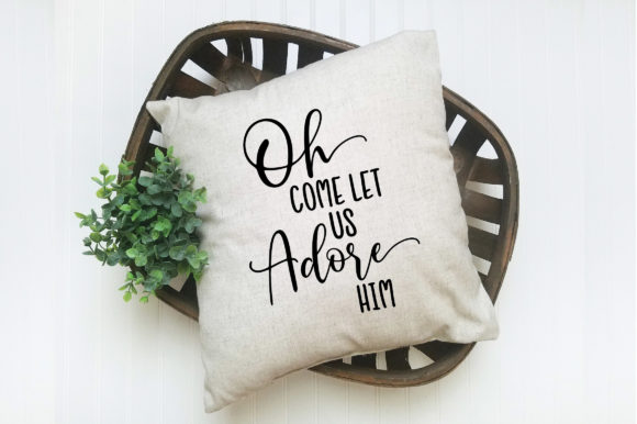 Download Free Oh Come Let Us Adore Him Christmas Svg Cut File Graphic By for Cricut Explore, Silhouette and other cutting machines.