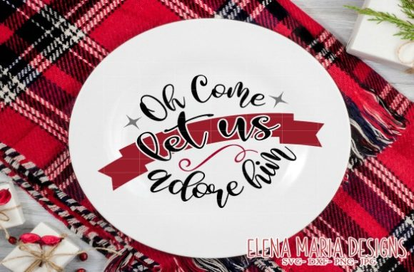 Download Free Oh Come Let Us Adore Him Svg Graphic By Elena Maria Designs for Cricut Explore, Silhouette and other cutting machines.