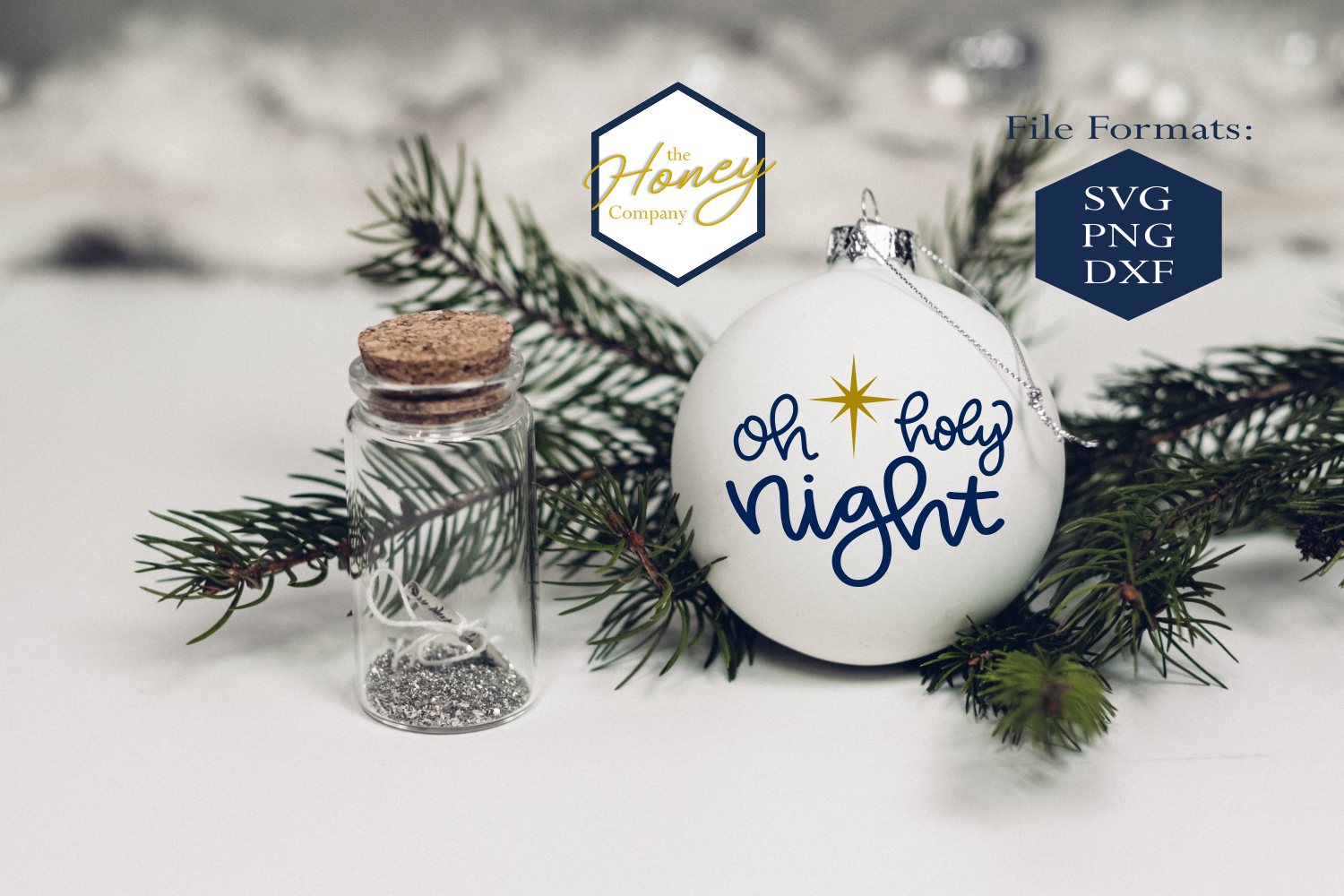 Download Free Oh Holy Night Svg Graphic By The Honey Company Creative Fabrica for Cricut Explore, Silhouette and other cutting machines.