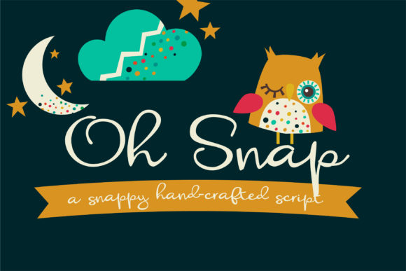 Print on Demand: Oh Snap Script & Handwritten Font By Illustration Ink