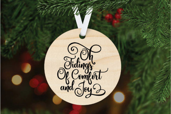 Download Free Oh Tidings Of Comfort And Joy Christmas Svg Cut File Graphic for Cricut Explore, Silhouette and other cutting machines.