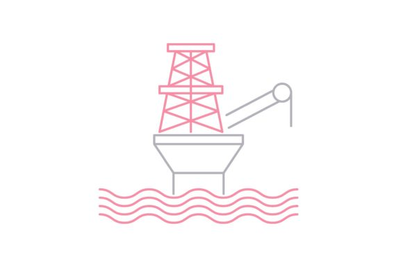 Print on Demand: Oil Platform Graphic Icons By Iconika