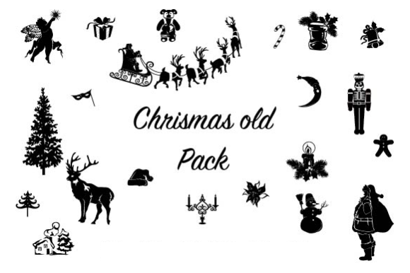Old Christmas Pack Graphic Objects By hamelinckmichael