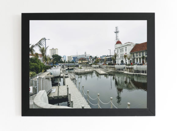 Print on Demand: Old City View in the River Side Graphic Architecture By nurionart
