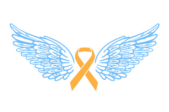 Download Free Orange Ribbon With Angel Wings Svg Cut File By Creative Fabrica for Cricut Explore, Silhouette and other cutting machines.