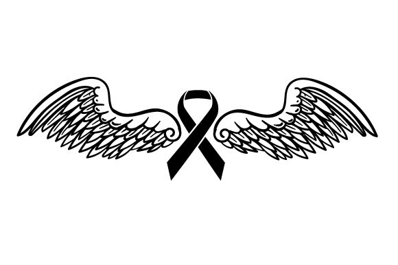 Download Free Orange Ribbon With Angel Wings Archivos De Corte Svg Por for Cricut Explore, Silhouette and other cutting machines.