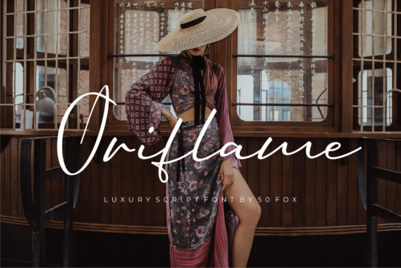 Print on Demand: Oriflame Script Script & Handwritten Font By 50Fox