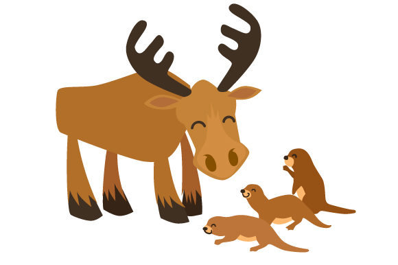 Download Free Otters And Moose Together Svg Cut File By Creative Fabrica for Cricut Explore, Silhouette and other cutting machines.