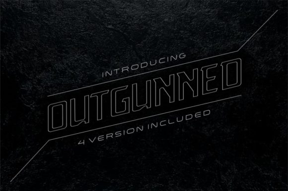 Print on Demand: Outgunned Display Font By bywahtung - Image 1