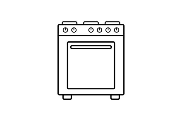 Print on Demand: Oven Graphic Icons By khld939